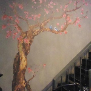 Painting on the wall - A Sakura tree