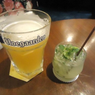 Hoegaarden and Virgin Mojito