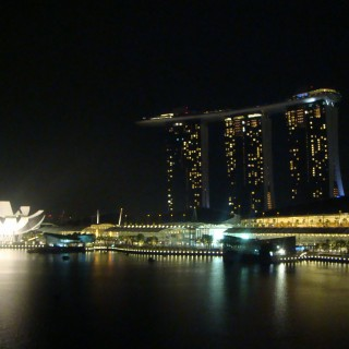 Marina Bay Sands as seen from the Lantern Bar @ The Fullerton Bay hotel