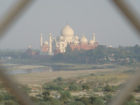 As seen from the Agra Fort