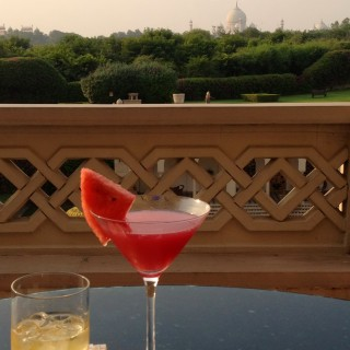Drinks at the Oberoi Amarvilas
