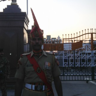 Indian soldier at Wagah border