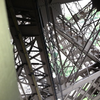 Inside the Eiffel Tower - the skeleton