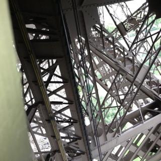 Inside the Eiffel Tower - the skeleton