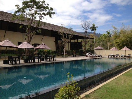 Muthi Maya's picturesque main swimming pool