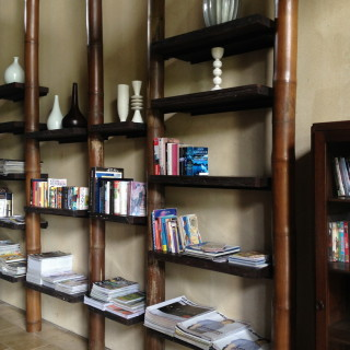 A section in the lobby for bibliophiles