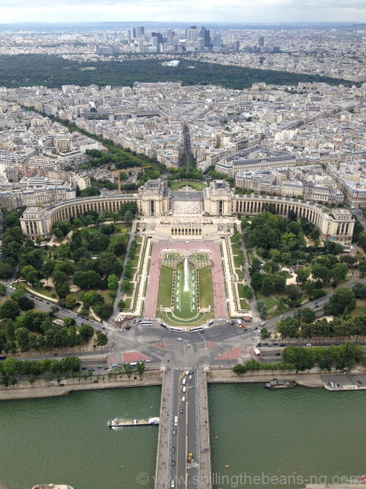 Trocadero as seen from Eiffel Tower