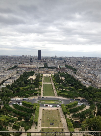 Champ de Mars from Eiffel Tower
