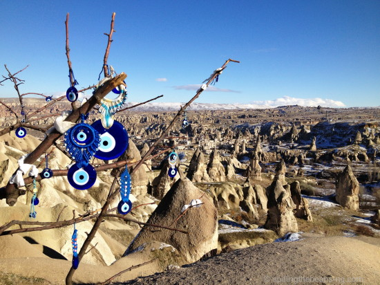 Blue - Evil Eye Tree at Pigeon Valley - Cappadocia, Turkey