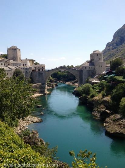 Green, Neretva River - Mostar, Bosnia and Herzegovina