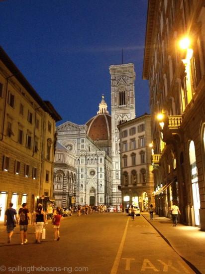 Walking towards Piazza del Duomo in Florence