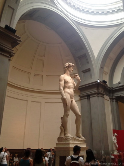Michelangelo's David in Accademia Galleria