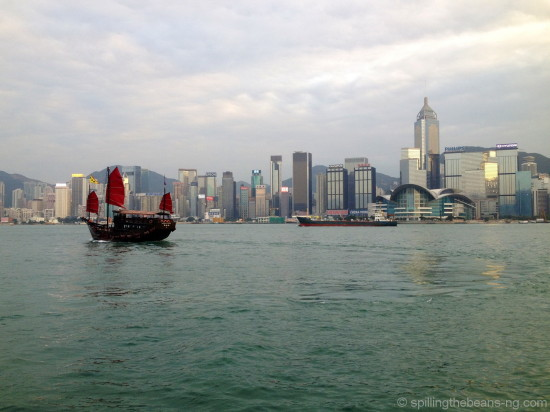 Hong Kong's Victoria Harbor as seen from the Star Ferry