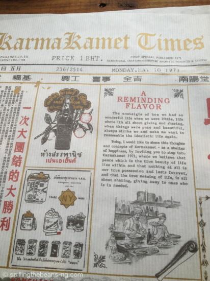 Newspaper table mats