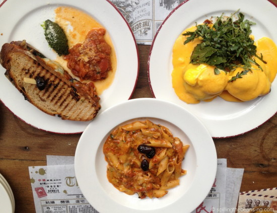 Panini, Eggs Benedict and Pasta