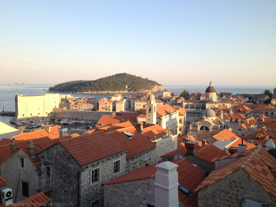 While walking the Old City Walls of Dubrovnik