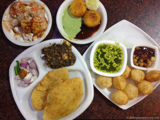 Full of flavor - Papri Chaat, Aloo Tikki, Gol Gappas and Channa Bhatura
