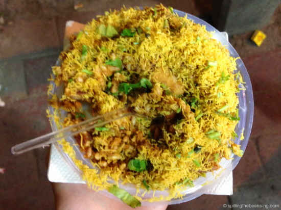 Bhelpuri - another popular savory and spicy street food