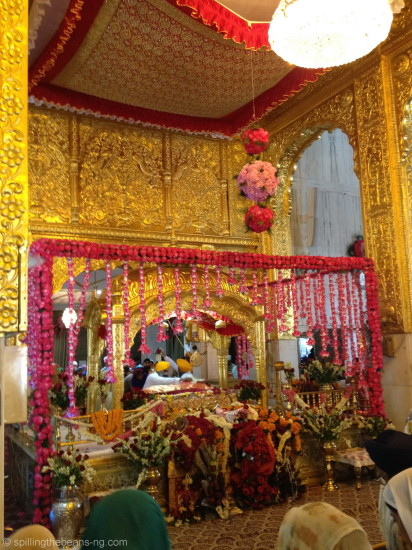 Inside the stunning Gurudwara Bangla Sahib