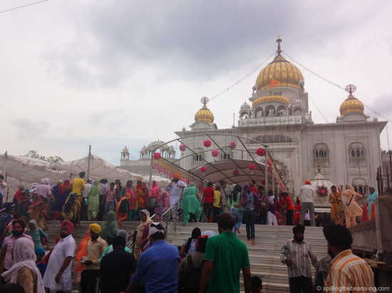 Gurudwara Bangla Sahib - a prominent Sikh temple in Delhi