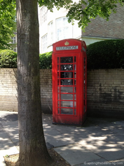 Red phone-booth