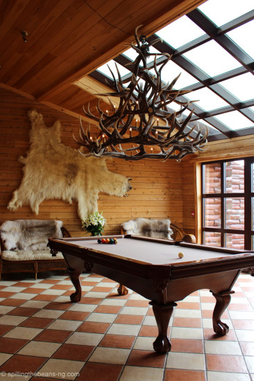 Pool table in an amazing setting