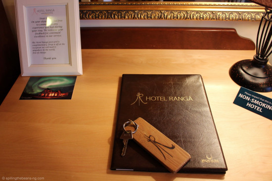 Room keysand hotel information book
