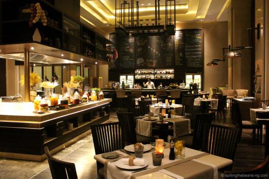 Inside Niche restaurant