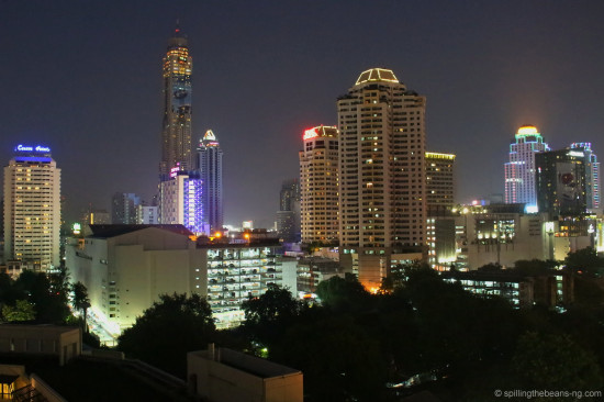 Bangkok skyline during late evening
