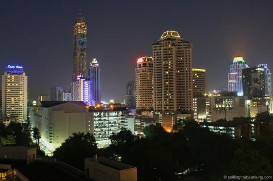 Bangkok skyline during late evening