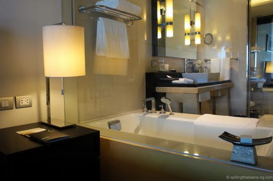 Bathroom and Bathtub as seen from room