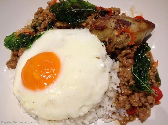Kraphao Moo with Foie Gras