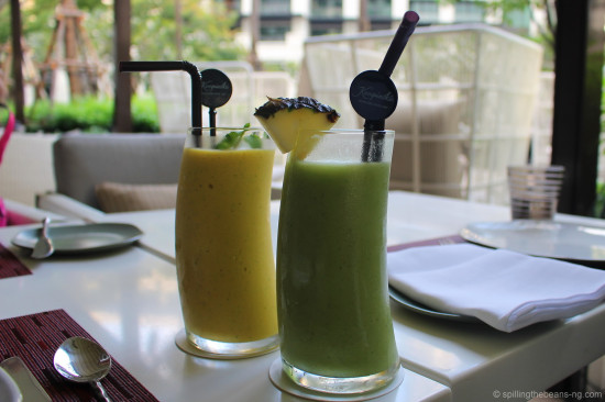 Refreshing smoothies - Yellow Submarine and Typhoon