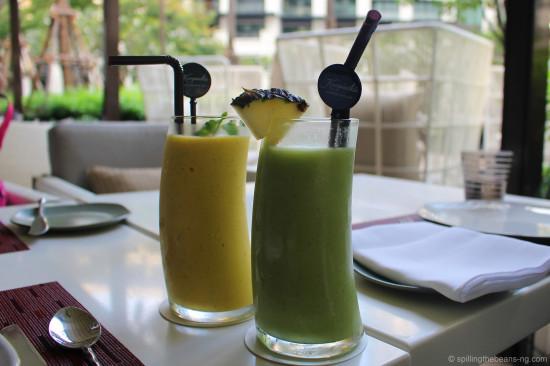Refreshing smoothies - Yellow Submarine and Typhoon
