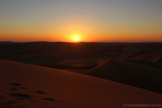 Fire - An Arabian Sunset at Rub Al Khali, UAE