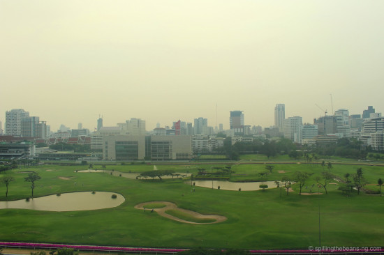 The Royal Bangkok Sports Club and golf course as seen from the St. Regis