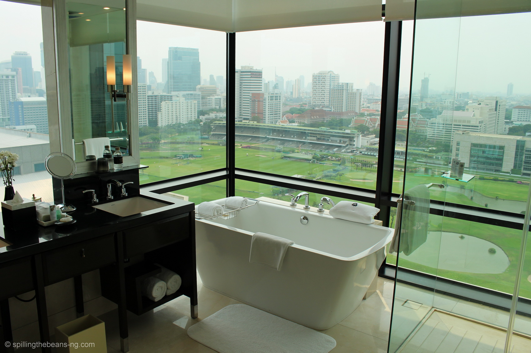 Bathtub with a view at St. Regis Bangkok