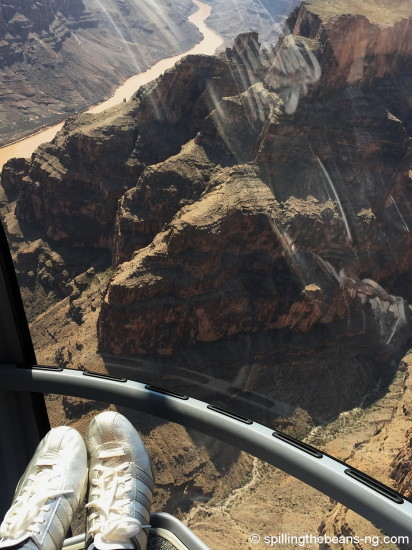View from the front of the helicopter