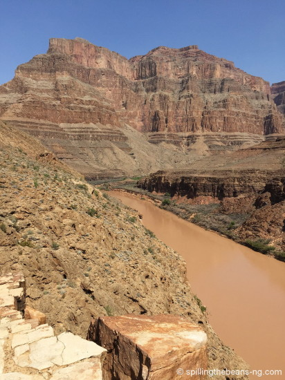 At the bottom of the Grand Canyon
