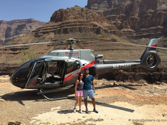 Oh you know, just a regular landing in the Grand Canyon, on a chopper!
