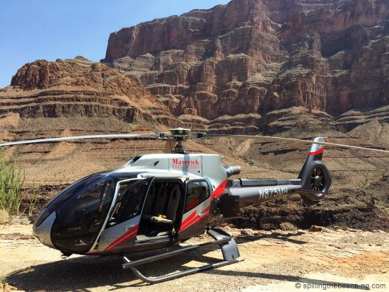 Our Helicopter in the canyon