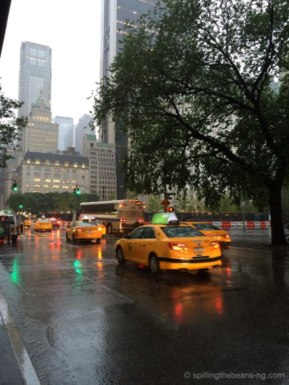 Beautiful rainy morning in New York
