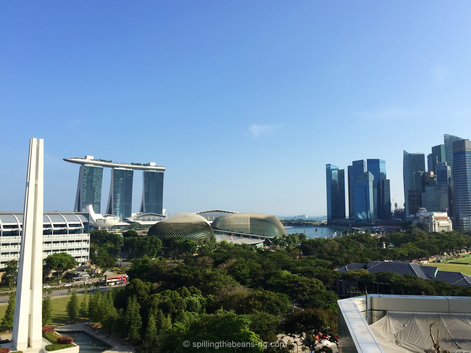 Marina Bay Sands and the Singapore skyline