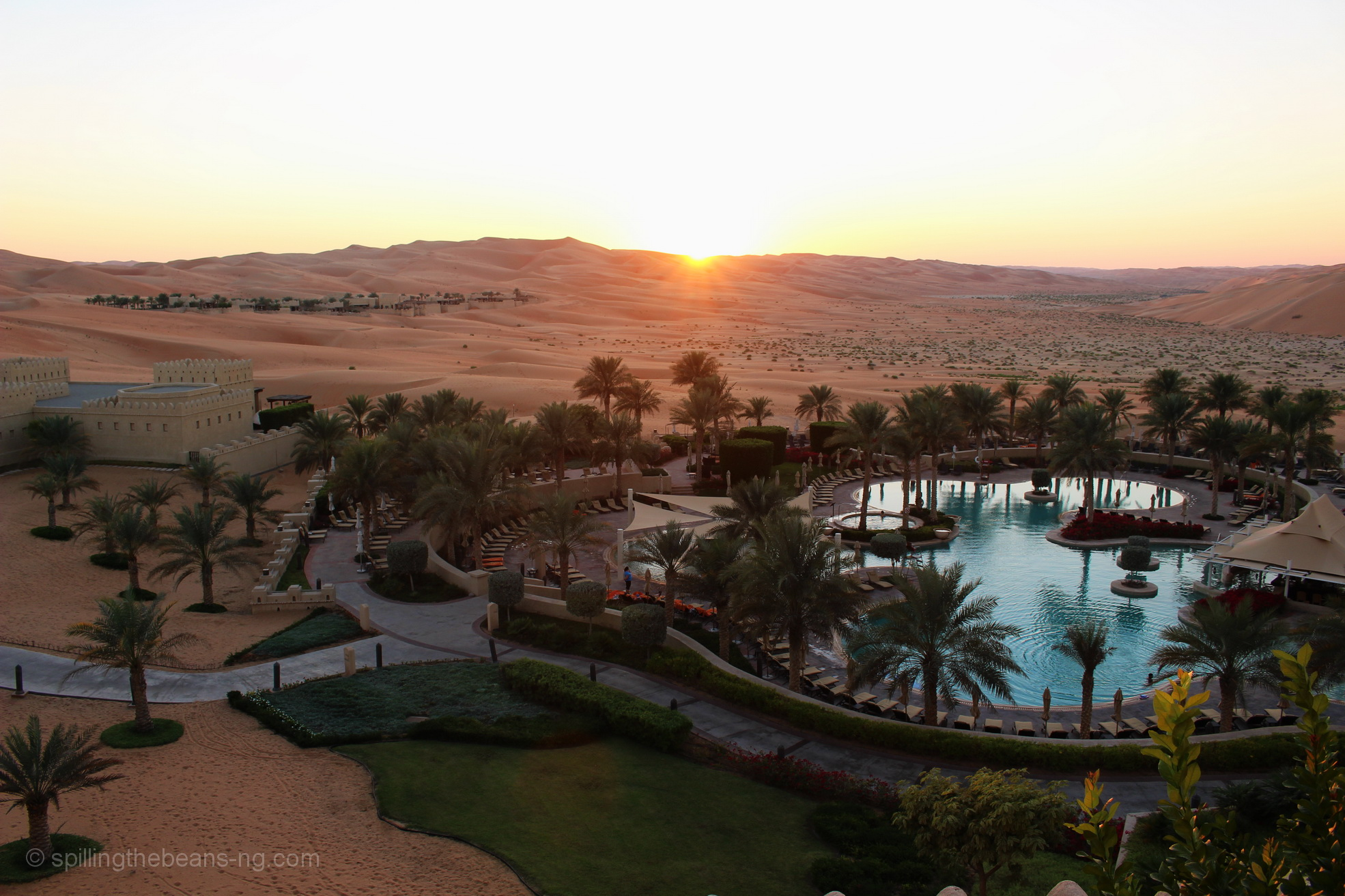 Sunset at Qasr Al Sarab - The Empty Quarter