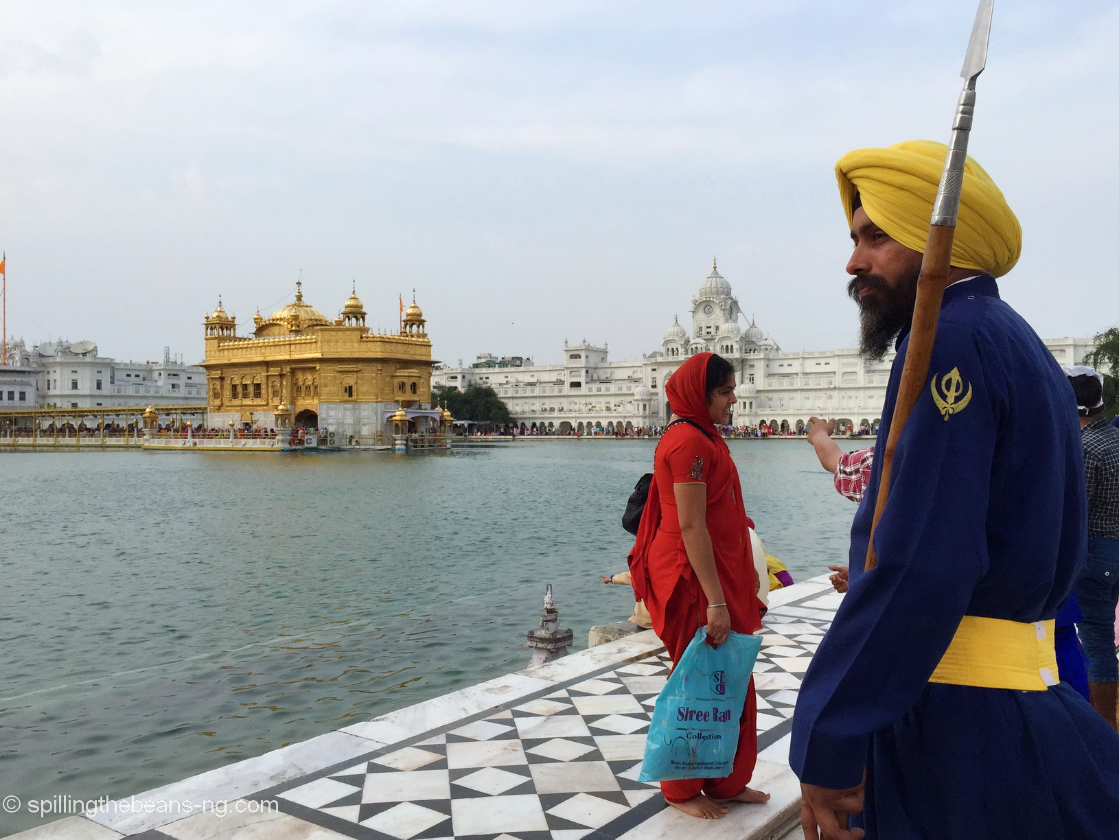 A Sikh guard at the Golden Temple