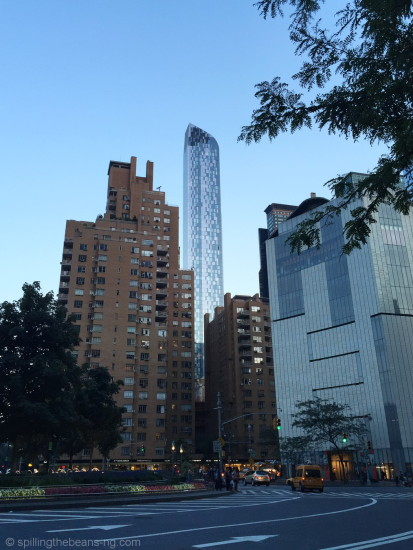 One57, a luxurious residential tower as seen from Columbus Circle
