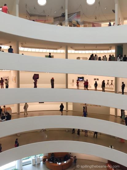 Spiral design inside Guggenheim