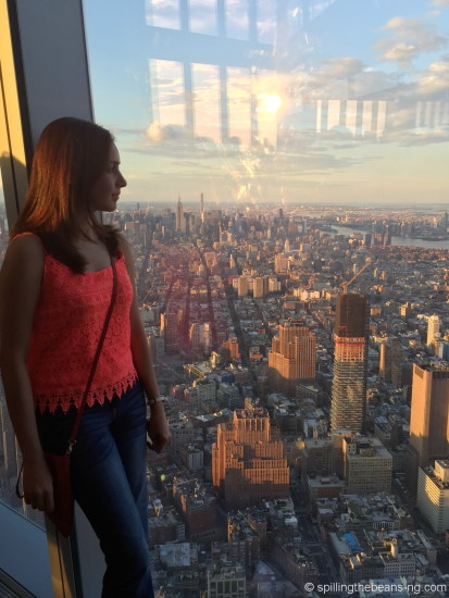 Admiring the sunset from One World Observatory