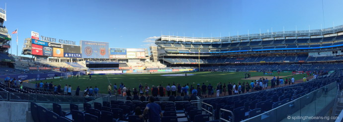Panorama of the Yankee Stadium